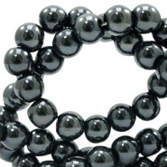 8 mm Glasperlen full colour Black amber coating