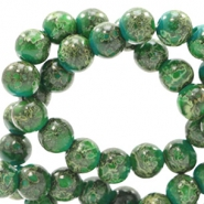 6 mm Glasperlen stone look Classic green-yellow