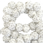 Strass Perlen 10mm Silver white