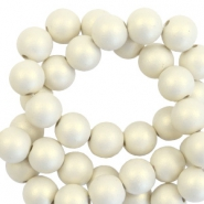 6 mm Acryl Perlen matt Silk beige-pearl coating