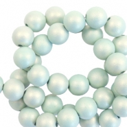 6 mm Acryl Perlen matt Light turquoise-pearl coating