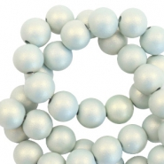 10 mm Acryl Perlen matt Light blue-pearl coating