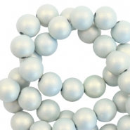 6 mm Acryl Perlen matt Light blue-pearl coating