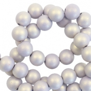 6 mm Acryl Perlen matt Lilac purple-pearl coating