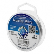 Griffin Jewelry wire 49 strands Ø0.45mm Clear metal colour