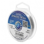 Griffin Jewelry wire 19 strands Ø0.60mm Clear metal colour