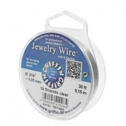Griffin Jewelry wire 19 strands Ø0.35mm Clear metal colour