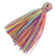 Perlen Quaste Basic 3cm Multicolour rainbow purple