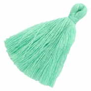 Perlen Quaste Basic 3cm Light turquoise green