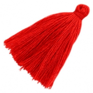 Perlen Quaste Basic 3cm Red