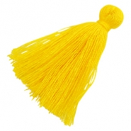 Perlen Quaste Basic 3cm Yellow