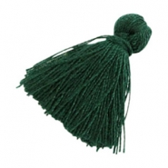 Perlen Quaste Basic 2cm Dark green
