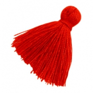 Perlen Quaste Basic 2cm Red