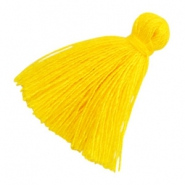 Perlen Quaste Basic 2cm Yellow