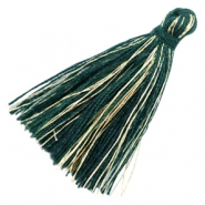 Perlen Quaste Basic Goldline 3cm Dark green