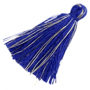 Perlen Quaste Basic Goldline 3cm Royal blue