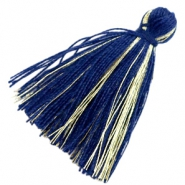 Perlen Quaste Basic Goldline 3cm Dark blue