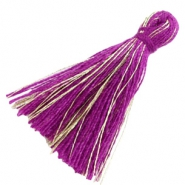 Perlen Quaste Basic Goldline 3cm Royal purple