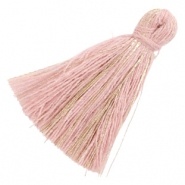 Perlen Quaste Basic Goldline 3cm Antique pink