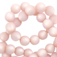 Super Polaris Perlen 6 mm rund matt Blush pink