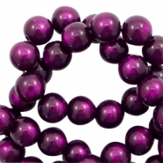 Super Polaris Perlen 6 mm rund Grape purple