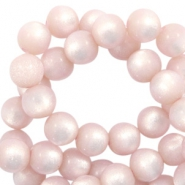 Super Polaris Perlen 6 mm rund Blush pink