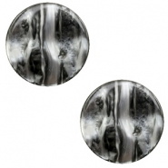 12 mm flach Cabochon Polaris Elements Perseo Black silver