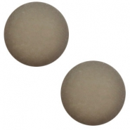 12 mm classic Cabochon Polaris Elements matt Warm grey