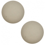 12 mm classic Cabochon Polaris Elements matt Light silver shade