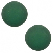 12 mm classic Cabochon Polaris Elements matt Dark classic green