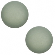 12 mm classic Cabochon Polaris Elements matt Chinois green grey