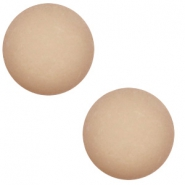 12 mm classic Cabochon Polaris Elements matt Taupe brown