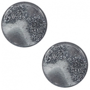 12 mm flach Cabochon Polaris Elements Stardust Gallant grey