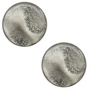 12 mm flach Cabochon Polaris Elements Stardust Warm grey