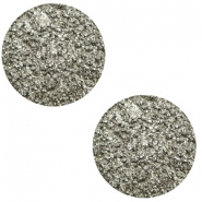 12 mm flach Cabochon Polaris Elements Goldstein Warm grey