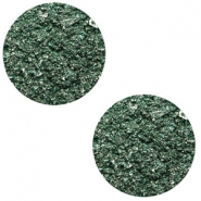 12 mm flach Cabochon Polaris Elements Goldstein Dark classic green