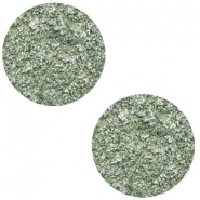 20 mm flach Cabochon Polaris Elements Goldstein Chinois green grey