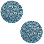 20 mm flach Cabochon Polaris Elements Goldstein Harbour blue