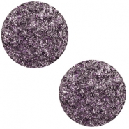 20 mm flach Cabochon Polaris Elements Goldstein Grape purple