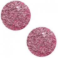 12 mm flach Cabochon Polaris Elements Goldstein Magenta pink