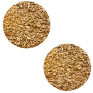 12 mm flach Cabochon Polaris Elements Goldstein Camel brown
