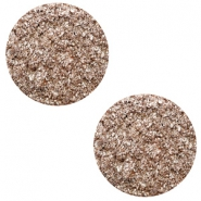 12 mm flach Cabochon Polaris Elements Goldstein Taupe brown
