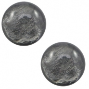 12 mm classic Cabochon Polaris Elements Lively Dark grey