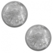12 mm classic Cabochon Polaris Elements Lively Light grey