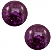 12 mm classic Cabochon Polaris Elements Lively Dark purple