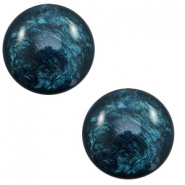 12 mm classic Cabochon Polaris Elements Lively Petrol blue