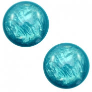 7 mm classic Cabochon Polaris Elements Lively Persian green
