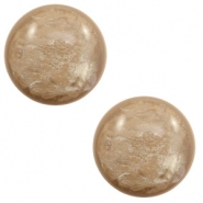 20 mm classic Cabochon Polaris Elements Lively Colonial brown