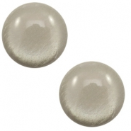 7 mm classic Cabochon Polaris Elements soft tone shiny Warm grey