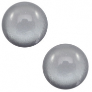 7 mm classic Cabochon Polaris Elements soft tone shiny Gallant grey